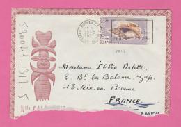 NOUVELLE CALEDONIE - TIMBRE POSTE P. A. N° 115  SUR LETTRE PAR AVION - Luftpost