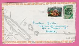 NOUVELLE CALEDONIE - TIMBRE POSTE P. A. N° 152 Et 382   SUR LETTRE PAR AVION - Luftpost