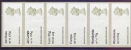 Great Britain 2013 Post & Go Machin 1st To Worlwide 60g. T.IIIA Strip Of 6 - Gran Bretagna