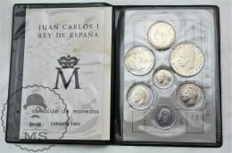 Spain Juan Carlos I Mint Coin Set 1984 - 1, 2, 5, 10, 25, 50 & 100 Pesetas By Spanish Royal Mint - [ 5] 1949-… : Reino