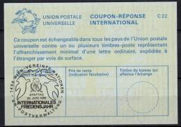 UNITED NATIONS VIENNA  INT. FRIEDENSJAHR / TAUBEN PIGEONS O ERSTTAG 20.06.86 ( No. 2 ) On Int. Reply Coupon Reponse IRC - Pigeons & Columbiformes
