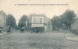 92  COURBEVOIE  -  Rond Point De La Rue De L,Aigle Et Quai D'Asnieres   ,( 1 Pli ) - Courbevoie