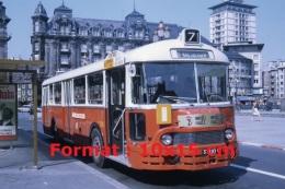 Reproduction D'une Photographie D'un Ancien Bus Ligne 7 Hausbergen Avec De La Publicité Café Sati - Reproductions