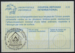 UNITED NATIONS VIENNA  IYSH 1987 MENSCHENWÜRDIGES WOHNEN O ERSTTAG 13.03.87 ( No. 2 ) On Int. Reply Coupon Reponse IRC - Cartas