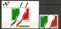 150 Ième Anniversaire De L'Unité D'Italie, Année 2011, Bloc-feuillet + Timbre ** - 6. 1946-.. Repubblica