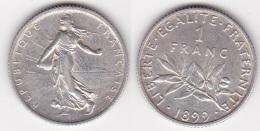 1 FRANC SEMEUSE 1899 SUPERBE  (voir Scan) - France