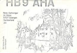 Amateur Radio QSL Card - HB9AHA - Seengen, Switzerland - 1976 - 2 Scans - Radio Amateur