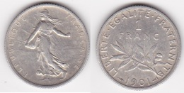 1 FRANC SEMEUSE 1901 SUPERBE  (voir Scan) - France