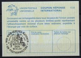 UNITED NATIONS VIENNA  RETTET DEN WALD  O ERSTTAG 18.03.88 ( No. 2 ) On Int. Reply Coupon Reponse IRC IAS Antwortschein - Cartas