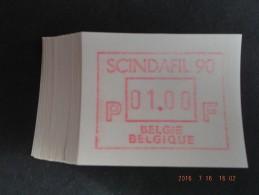 SCINDAFIL ´90. Gomdruk C Papier. 50 X. - Postage Labels