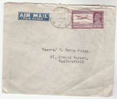 1946 Air Mail INDIA COVER 8a AIRCRAFT Stamps To GB Aviation Flight - India (...-1947)