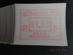 SCINDAFIL ´90. Gomdruk C Papier. 100 X. - Vignettes D'affranchissement
