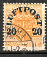 SUEDE   Aéro   1920  (o)    Y&T N° 2