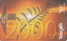 NEW ZEALAND(chip) - Millennium 2000(035), Chip GEM3.3, 01/00, Used - Neuseeland