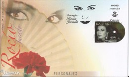 Spain 2016 - Rocío Jurado FDC - First Day Cover - Stamped Stationery