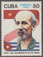 1990.59 CUBA 1990 MNH. CENTENARIO DEL NACIMIENTO DE HO CHI MINH. VIETNAM. POET. POLITICAL. - Unused Stamps