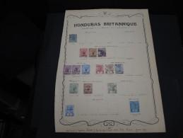 HONDURAS BRITANNIQUE - Collection Avec Des Timbres Neufs Première Charnière - A Voir - P20386 - Honduras