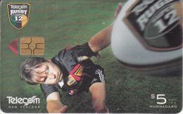 NEW ZEALAND(chip) - Telecom Rugby Super 12/Rhys Duggan(037), Chip GEM3.3, 02/00, Used - Nieuw-Zeeland