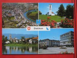 Dietikon (ZH) - Mehrbildkarte / Flugaufnahme / Kirche / Zürcher Kantonalbank - ZH Zurich
