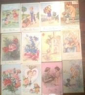 Lot De 12 Cartes Illustrées Enfant Bonne Fête Maman - Día De La Madre