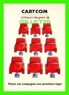 ADVERTISING - PUBLICITÉ - CART'COM -  FESTIVAL D'AVIGNON 1996 - PLACEZ VOS CAMPAGNES AUX PREMIÈRES LOGES - - Publicité