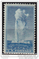 United States, 1934, Old Faithful, Yellowstone Park, 5c, Scott#744, MNH - Vereinigte Staaten