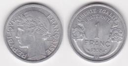 1 FRANC MORLON 1958 B Aluminium (voir Scan) 1 - Francia