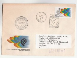 1989 REGISTERED HUNGARY FDC Stamps To GB With RINGWOOD Cds Pmk , Cover - FDC
