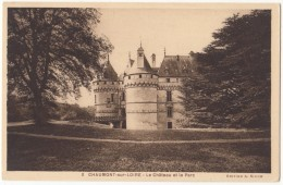 France, CHAUMONT-sur-LOIRE, Le Chateau Et Le Parc, Unused Postcard CPA [18256] - France