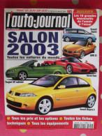 Revue L'auto-journal Salon 2003 N° 599 De 2002. Renault Bmw Peugeot Ferrari Enzo - Auto