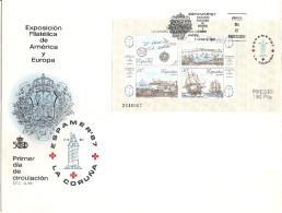 1987-ED. 2916 H.B.-ESPAMER 87- S.P.D. MAT. 1er DIA - FDC