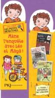 Marque-page °° Pocket Jeunesse PKJ - Léo Et Maya Les Petits Détectives - Haut Détouré 6x18 Jaune - Marcapáginas