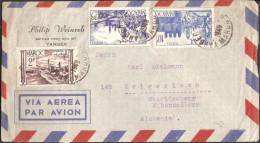 Maroc, Morocco, Lettre Affranchie Mixte De L´émission 1947, Tangier Cherifien 22-6-49 - Cartas