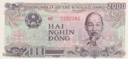 (B0307) VIETNAM, 1988 (1989). 2000 Dong. P-107b. UNC - Vietnam