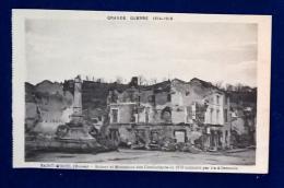 GRANDE GUERRE 1914-18 - Saint Mihiel - Ruins Et Monument Des Combattants De 1870 - Saint Mihiel