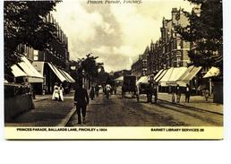 Princes Parade Finchley London - Modern Unused Card - London Suburbs