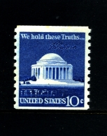 UNITED STATES/USA - 1973  10c.  MEMORIAL COIL PERF. 10 VERT  MINT NH - Unused Stamps