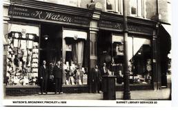 Watson's Hosiers Finchley London - Modern Unused Card - Shops