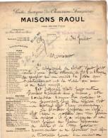 VP5237 - Lettre - Société Anonyme Des Chaussures Françaises Maison RAOUL à VERSAILLES - 1900 – 1949