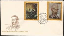 B)1972 CUBA-CARIBE, SOLDIER, NOVELIST, POET, 425 ANNIVERSARY OF THE BIRTH OF MIGUEL DE CERVANTES SAAVEDRA, SC 1734-1736 - Cuba