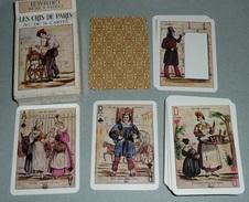 Rare Jeu De 54 Cartes Avec Joker, Les Cris De PARIS, Vieux Métiers, Vie Parisienne Au XIXe Siècle, As De Pique - Jeux De Société