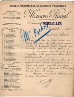 VP5239 - Lettre - Société Anonyme Des Chaussures Françaises Maison RAOUL à VERSAILLES - 1900 – 1949