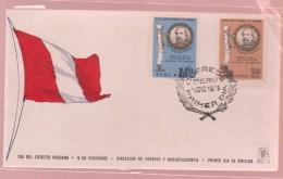 O) 1969 PERU, COLONEL  FRANCISCO BOLOGNESI-MILITARY HERITAGE. LEADS THE BATTLES  AYACUCHO, CUSCO, ARICA, FDC XF - Peru