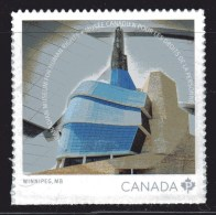 CANADA, 2014, MNH  # 2771,  CANADIAN  MUSEUM Of HUMAN RIGHTS  Stamp From  Booklet - Carnets