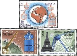 Dubai 390-392 (kompl.Ausg.) Gestempelt 1971 Fernmeldewesen - Dubai
