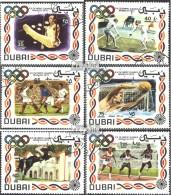 Dubai 410-415 (kompl.Ausg.) Gestempelt 1972 Sommerolympiade '72, München - Dubai