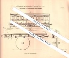 Original Patentschrift - J. Annadale In Polton , Scotland , 1897 , Suspension For Railway , Train , Lasswade !!! - Railway