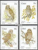 Südafrika - Ciskei 183-186 (kompl.Ausg.) Postfrisch 1991 Eulen - Ciskei