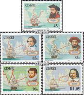 Südafrika - Ciskei 228-232 (kompl.Ausg.) Postfrisch 1993 Entdecker - Ciskei