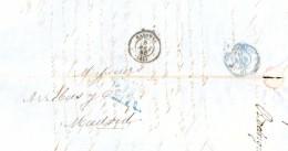 Francia  Año 1856 Carta Bayonne A Madrid Matasellos  Bayonne, Santander  Y Porteo 2Rs - France